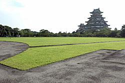 野球場の整備が進む伏見桃山城運動公園