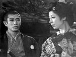 「花の生涯」で長野主膳を演じられた佐田啓二さん(左)と村山たかを演じられた淡島千景さん(右)