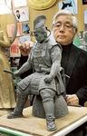 銅像設置のためイメージとしてつくられた今川義元の粘土像