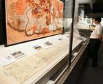 展示されている道中案内絵図には秀吉が辿ったと考えられる道が示されている