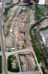桂川で見つかった明治初期のものと見られる大規模な護岸の跡