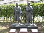 由利公正(三岡八郎)・横井小楠像